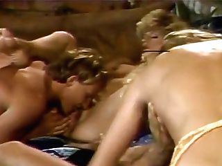 Fabulous Superstars Elaine Southern, Gina Valentino And Athena Starr In Horny Blonde, Sixty Nine Pornography Flick