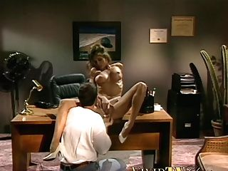 Huge-chested Retro Sex Industry Star Fucked Passionately On Office Table
