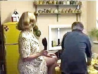Wifey Spanks Hubby With Boot In Kitchen Koli